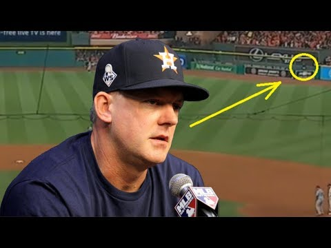 PROOF The Houston Astros Were Cheating In The 2017 Postseason Including The World Series