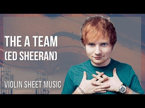 EASY Violin Sheet Music: How to play The A Team  Ed Sheeran