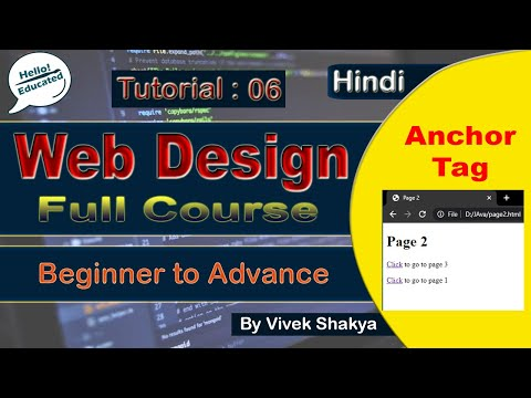 how-to-create-hyperlink-in-html- -anchor-tag-in-html- -by-vivek-shakya- -tutorial:-06