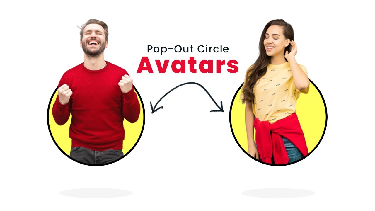CSS Only Pop-Out Circle Avatars | CIrcle Pop Out Image Effect