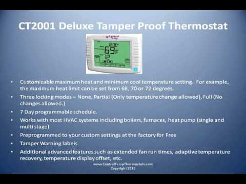 Controltemp Ct2001 Deluxe Tamper Proof Thermostat Video