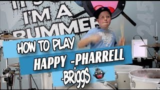 How to play Happy on Drums by Pharrell beginner drum lesson