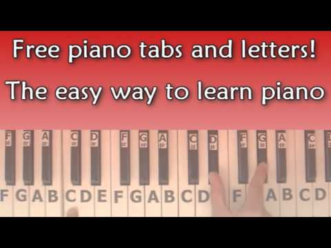 Piano piano tabs with letters : Vote No on : Piano Tabs