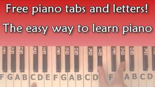 Free Piano Tabs / Letters - www.PianoLetters.com
