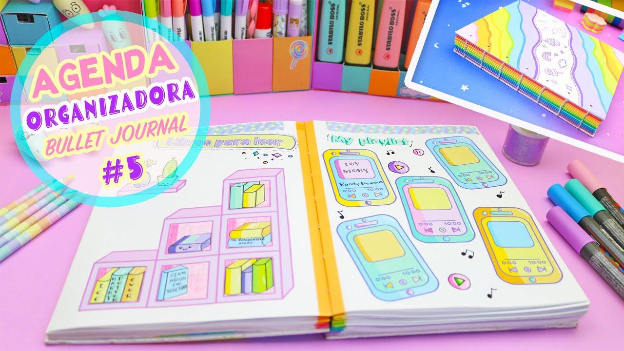 AGENDA ORGANIZADORA Parte #5 PLANEADOR Y SEGUIMIENTOS Bullet Journal  Manualidades aPasos