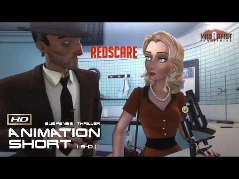 "CGI 3D Animated Short Film ""REDSCARE"" Mysterious & Surreal film noir by Jérémy Guerrieri"