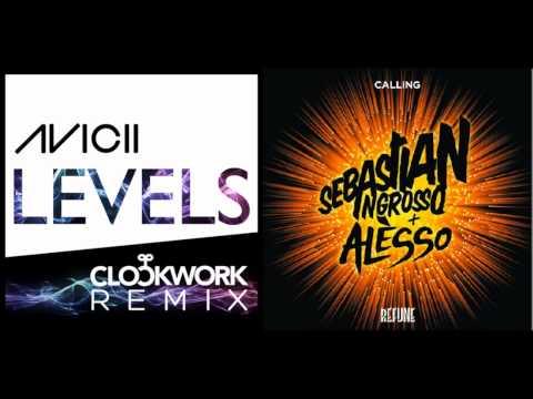 Avicii - Levels (Clockwork Remix) vs. Sebastian Ingrosso Feat. Alesso - Calling (Original Mix)