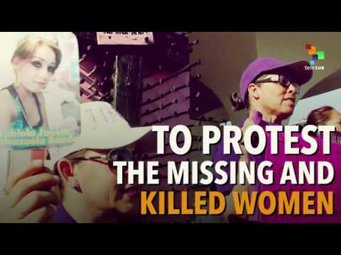 Women Protest Against Femicide at U.S.-Mexico Border