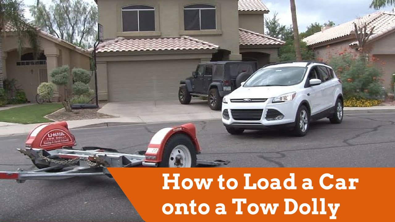 How to Load a Car onto a U-Haul Tow Dolly - YouTube