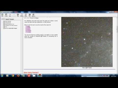 Beginners guide to stacking images using Deep sky stacker.
