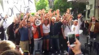 03-05-2013 - Milano Corso Garibaldi - Gli ultrà dei VIP con Belen Rodriguez- Le Iene