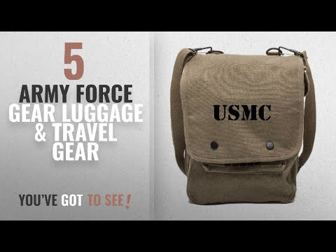 Top 10 Army Force Gear Luggage & Travel Gear [2018]: USMC United States Marine Corps Text Canvas