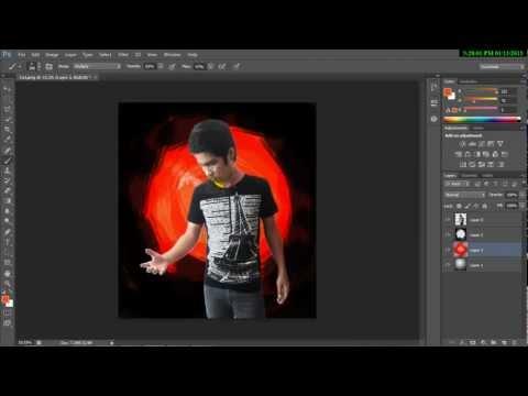 สอนทำพื้นหลัง photoshop CS6