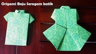 Membuat Origami baju perempuan dan kemeja lelaki