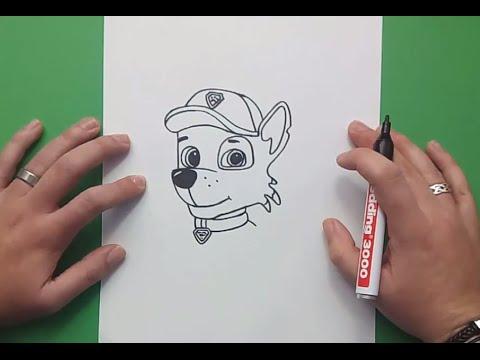 Como Dibujar A Rocky Paso A Paso La Patrulla Canina How To Draw Rocky Canine Patrol
