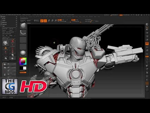 "CGI 3D Tutorial : ""War Machine: Zbrush Tutorial"" - by Joe Grundfast 