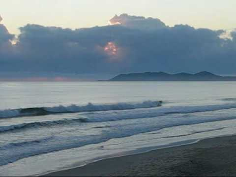Sunrise over Byron Bay, New South Wales, Australia - the continent's most Easterly landpoint