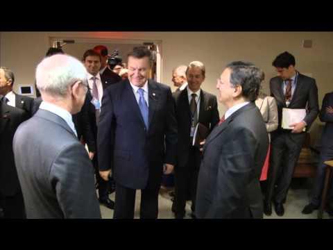 President Van Rompuy and President Barroso meet President of Ukraine Viktor Yanukovych