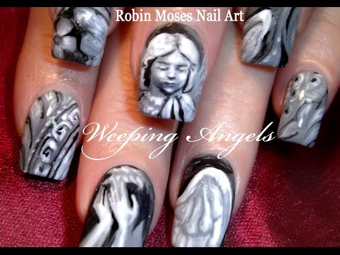 Doctor Who Nails | Weeping Angels Nail Art Design Tutorial