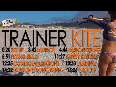 Trainer Kite Tutorial (introduction to power kites, kiteboar