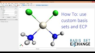 Avogadro with Gaussian Tutorial Mixed Basis Sets and ECP