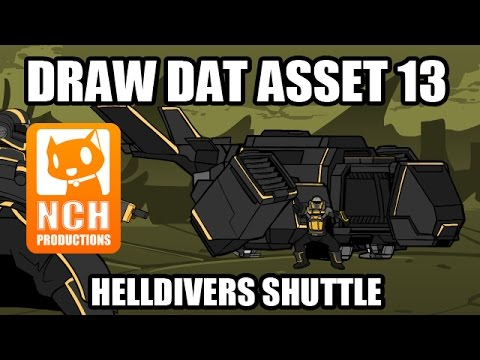 Draw Dat Asset: Helldivers shuttle asset creation