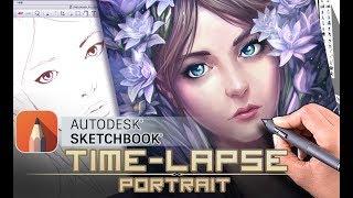 Portrait in Sketchbook Pro - Time Lapse