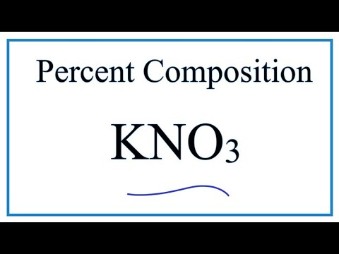 KNO3: How To Find The Percent Composition For Potassium Nitrate