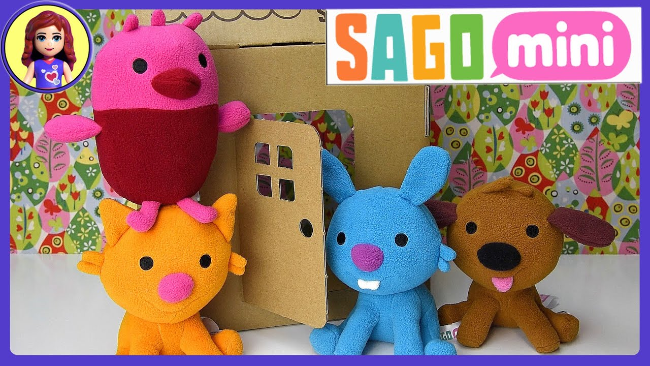 Sago Mini Friends Plush Toys Gift Pack Set Unboxing Review and