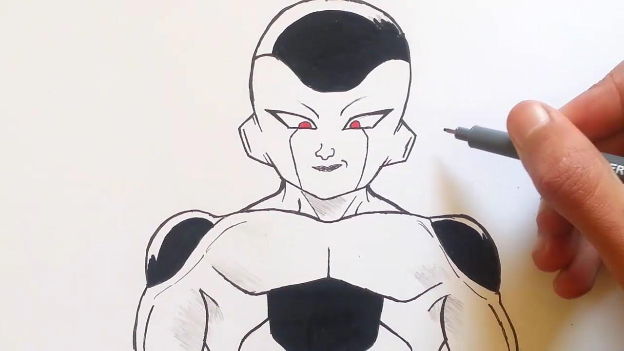 رسم فريزر من دراغون بول سوبر خطوة بخطوة Youtube
