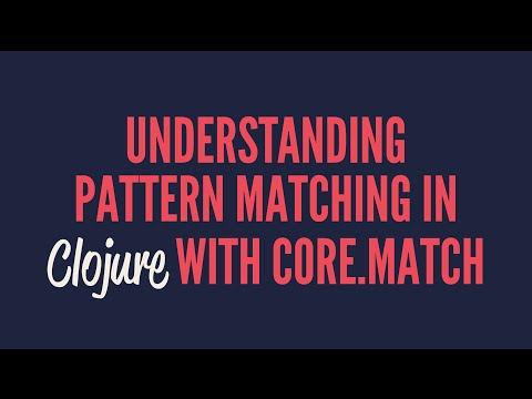 Understanding pattern matching