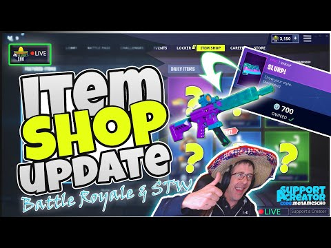 🆕menamescho's-live-🔵-*new*-slurp-wrap-🥛-item-shop-update-✨-fortnite-battle-royale-16th-june-2019