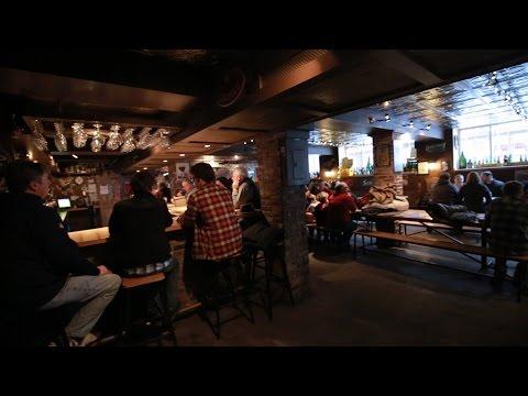 This amazing bar is hidden down an alley, behind a parking garage, in a basement