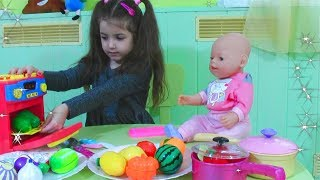 Fruits and Vegetables play with doll by Vania Mania