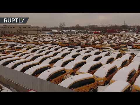 'Descanse en paz' - Así es un cementerio de taxis de Moscú
