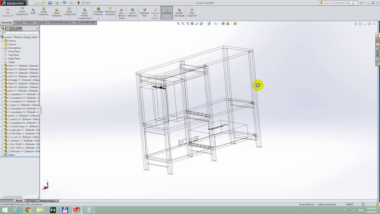 Wire Frame In Solidworks - WIRE Center •