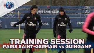 TRAINING SESSION - PARIS SAINT-GERMAIN vs GUINGAMP