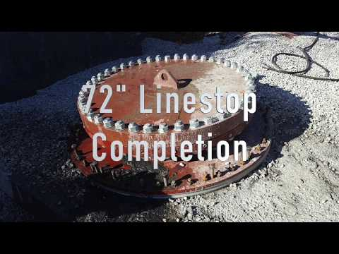 "72"" Linestop through a 36"" Hottap on Pre-Stressed Concrete Pipeline (PCCP) with By-Pass Services"