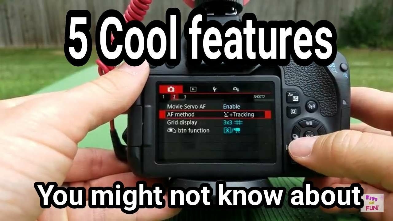 5 Tips or Tricks for the Canon Rebel EOS T7i/800D