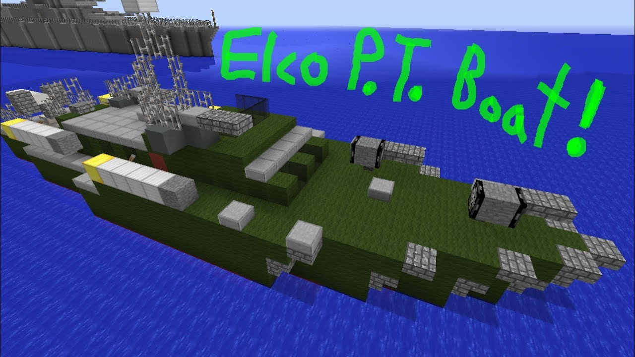 Minecraft Tutorial: Elco P T  Boat!
