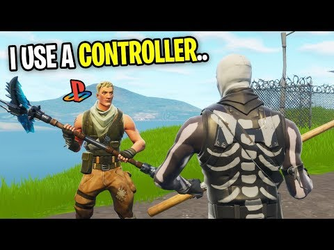 PC PLAYER CARRIES CONTROLLER PLAYER TO A WIN IN FORTNITE! (he needed it)