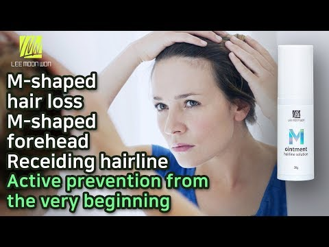 Treat M shaped hair loss, Thin hair of hairline, Wide