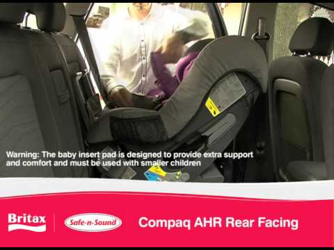 Britax Safe-n-Sound Compaq AHR: Install Rear-Facing Car Seat ...