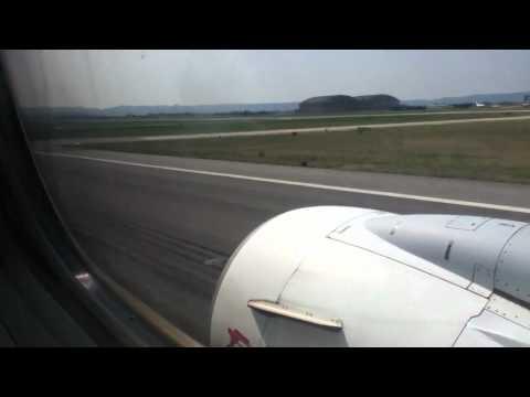 Take Off boeing 737-600 TunisAir aeroport marseille marignane vers tunisie 25/08/11