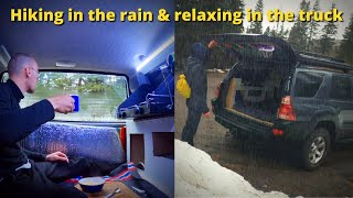 Going Camping In Mỳ Truck On A Rainy Day (Rainstorm)