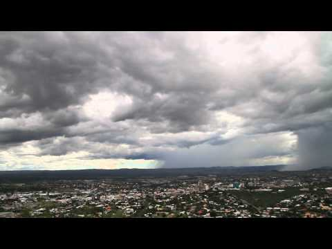 Rain over Windhoek, Namibia 05/01/2011