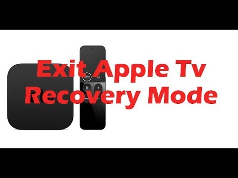 How To Exit Apple TV/4K/4th/3rd/2nd Recovery Mode. 1 Click. No ITunes Needed.