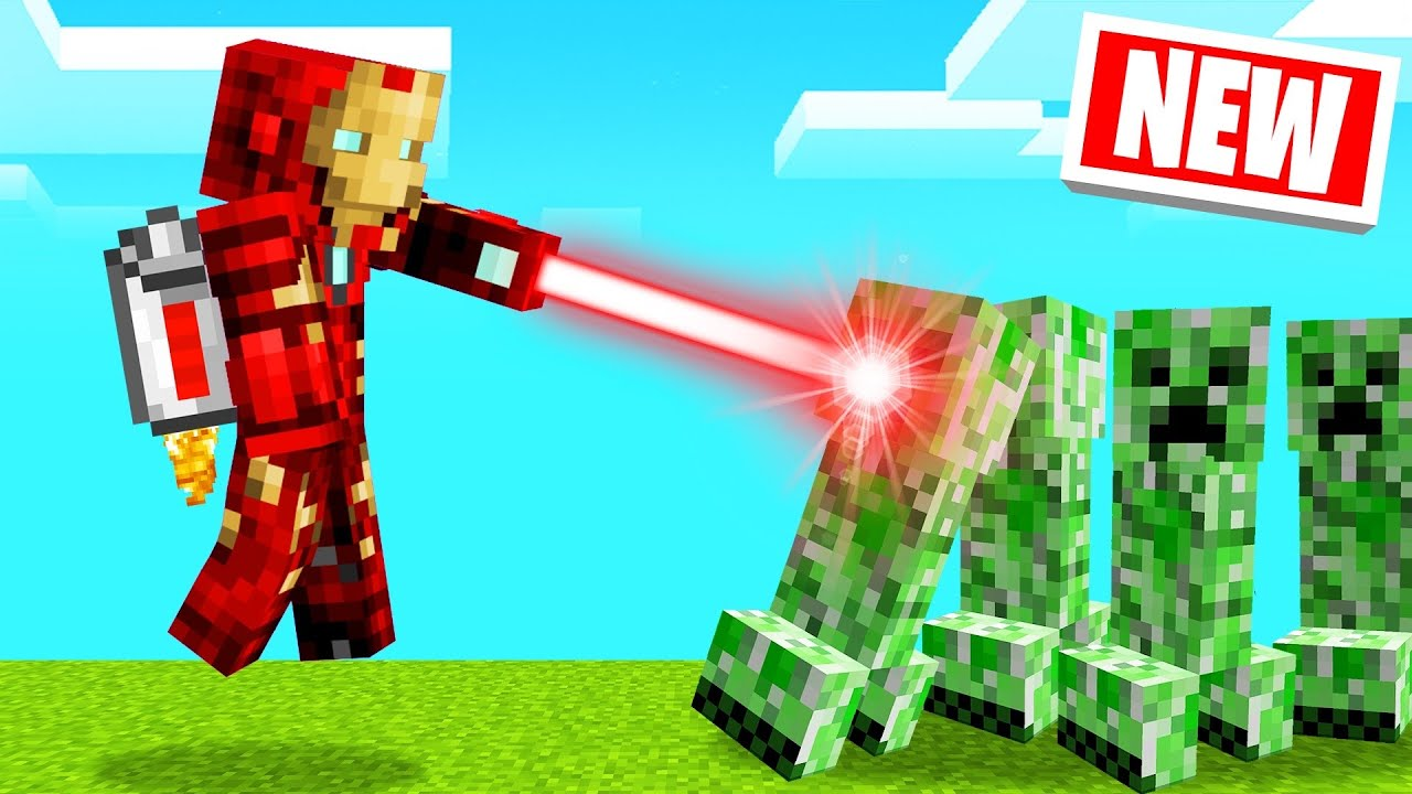 Playing As IRON MAN In MINECRAFT! (Mod)