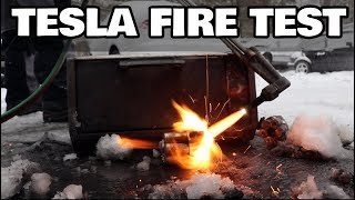 Can we make Tesla batteries fire resistant?