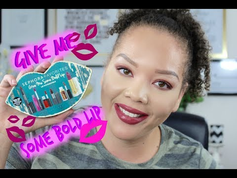 Sephora Favorites Give Me Some Bold Lips|Holiday 2017